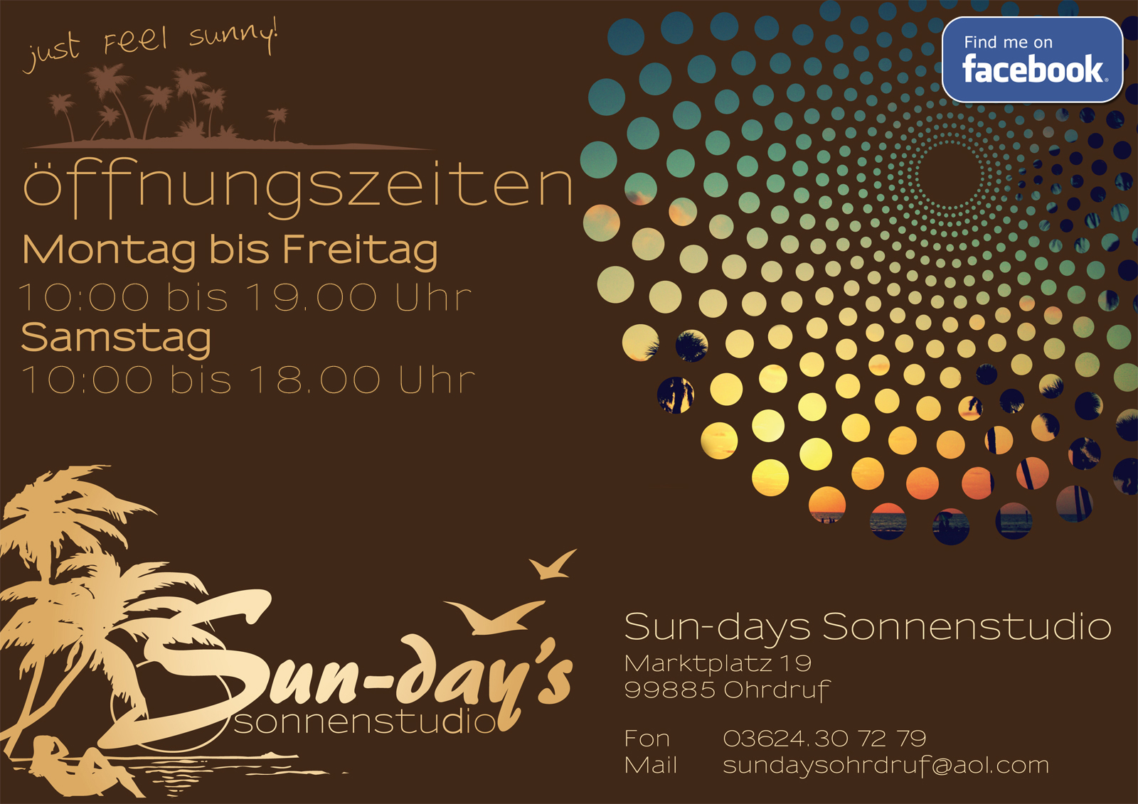 Flyer Sun-days Sonnenstudio Ohrdruf
